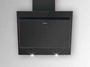 Silverline Wandhaube Indira 90 cm  Schwarz / Schwarzglas IDW 900 S