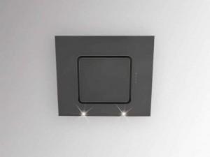 Silverline Wandhaube Porto 60 cm Schwarz / Schwarzglas PRW 600 S