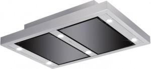 Silverline Vega AC Randabsaugung 100 x 70 cm Edelstahl / Schwarzglas VGUD 104.1 SRA