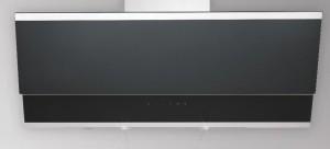 Silverline Wandhaube Zenith Edelstahl Schwarzglas 90 cm ZEW 900 SE