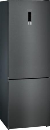 Siemens Kühl-Gefrier-Kombination iQ 300 blackSteel KG49NXXEA