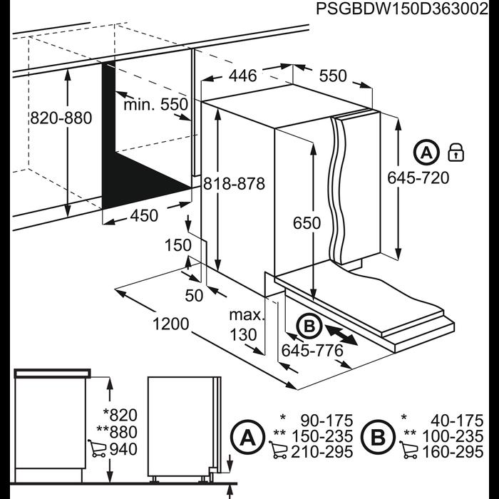 aeg geschirrsp ler 45 cm fsb31400z. Black Bedroom Furniture Sets. Home Design Ideas