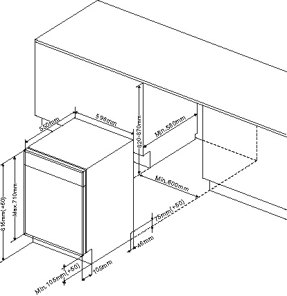 amica einbau geschirrsp ler 60cm vollintegrierbar. Black Bedroom Furniture Sets. Home Design Ideas