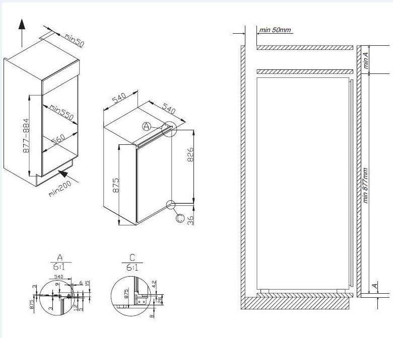 Amica Einbau Kuhlschrank Schleppturtechnik Eks 16171 Psi24 Com
