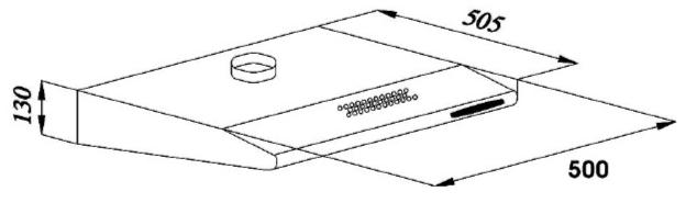 amica unterbauhaube base 50 cm edelstahlfront uh 17052 2 e. Black Bedroom Furniture Sets. Home Design Ideas