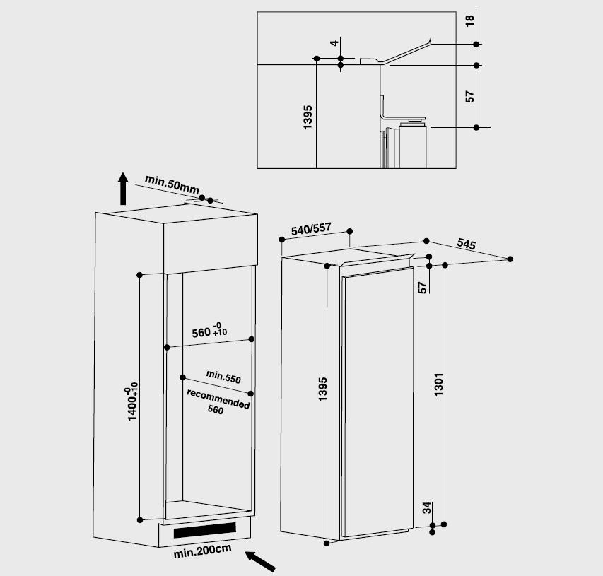 Bauknecht Einbau-Kühlschrank mit Gefrierfach KVIE3131 | psi24.com