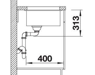 blanco subline 400 u granitsp le aus silgranit puradur. Black Bedroom Furniture Sets. Home Design Ideas