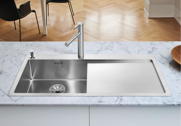 blanco sp le claron 5 s if edelstahl links 521626. Black Bedroom Furniture Sets. Home Design Ideas