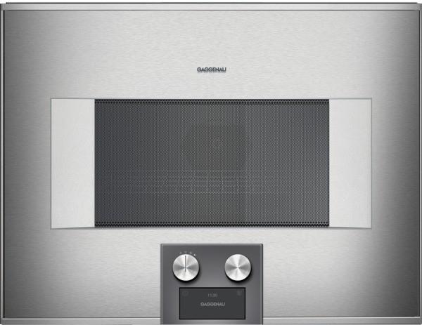 gaggenau mikrowellen backofen 60 cm rechtsanschlag bedienung unten bm454110. Black Bedroom Furniture Sets. Home Design Ideas