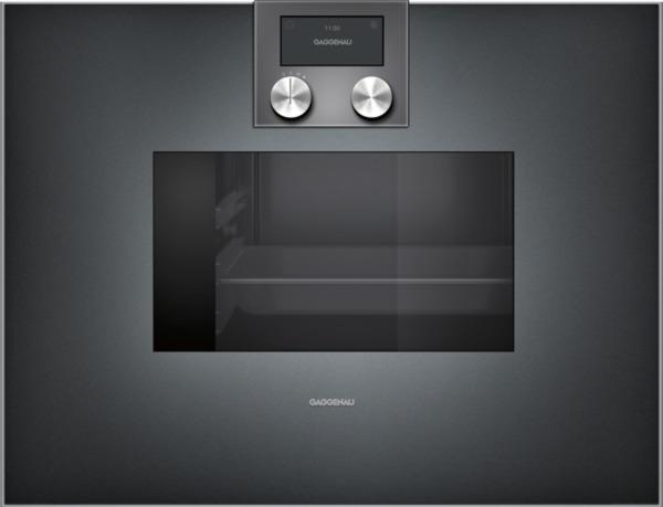 gaggenau dampfbackofen anthrazit linksanschlag bedienung oben bs471101. Black Bedroom Furniture Sets. Home Design Ideas