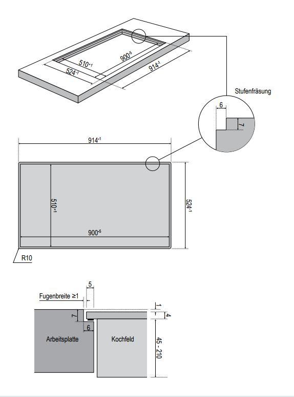 oranier kochfeld fl cheninduktion mit kochfeldabzug umluft kfl 2094. Black Bedroom Furniture Sets. Home Design Ideas