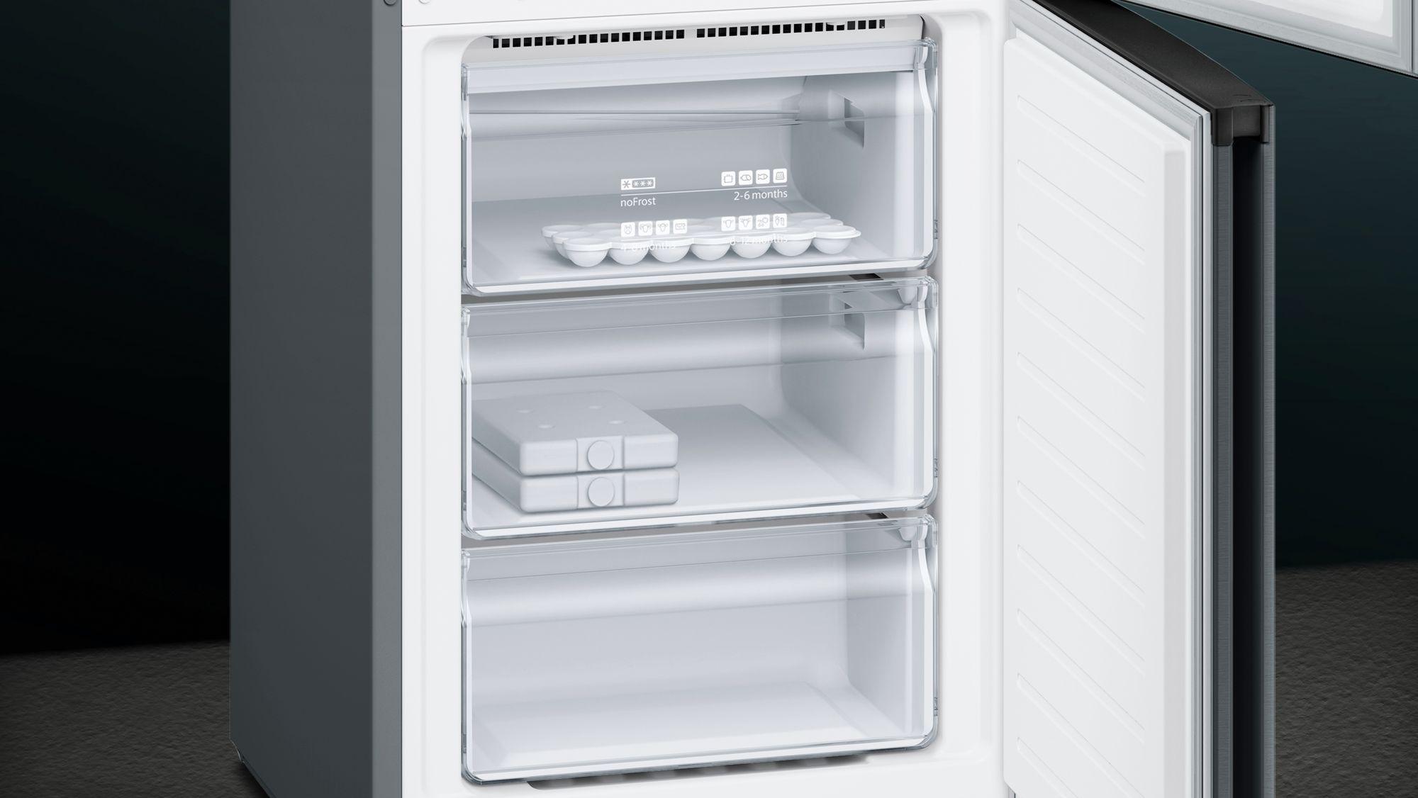 Siemens Studioline Kühlschrank : Siemens kühl gefrier kombination türen black inox antifingerprint