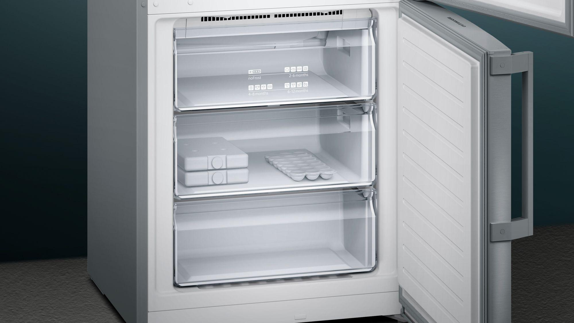 Siemens Kühlschrank Edelstahl : Siemens iq300 kühl gefrier kombination türen edelstahl nofrost