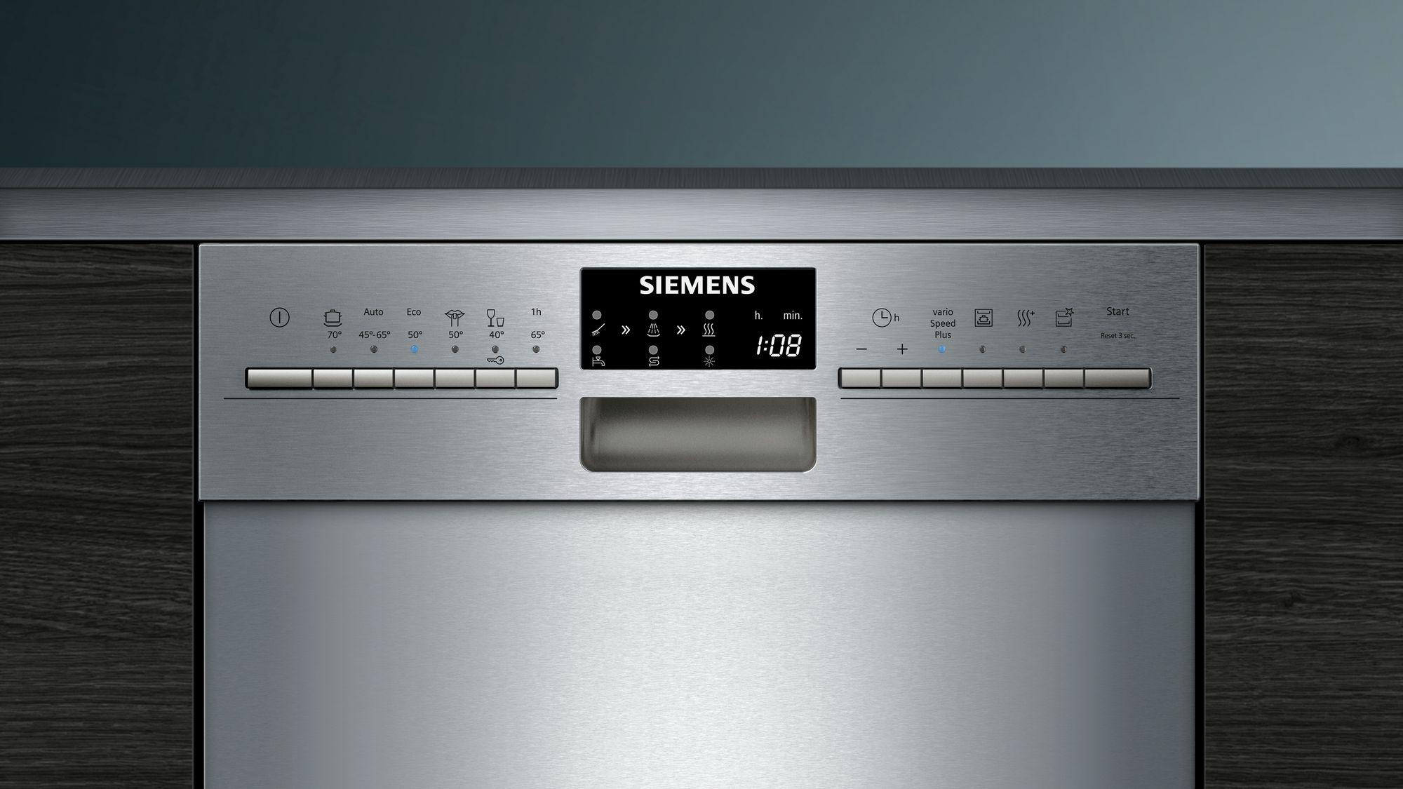 Siemens geschirrspüler speedmatic45 unterbau edelstahl 45 cm