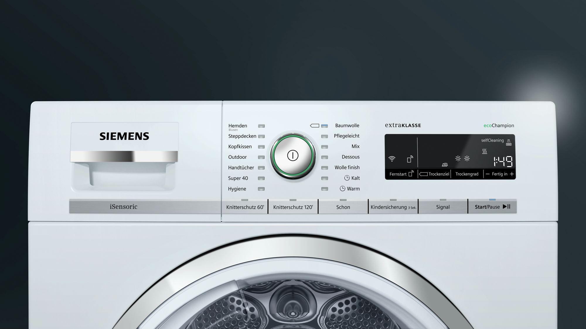 Siemens iq wärmepumpentrockner isensoric wt wh psi