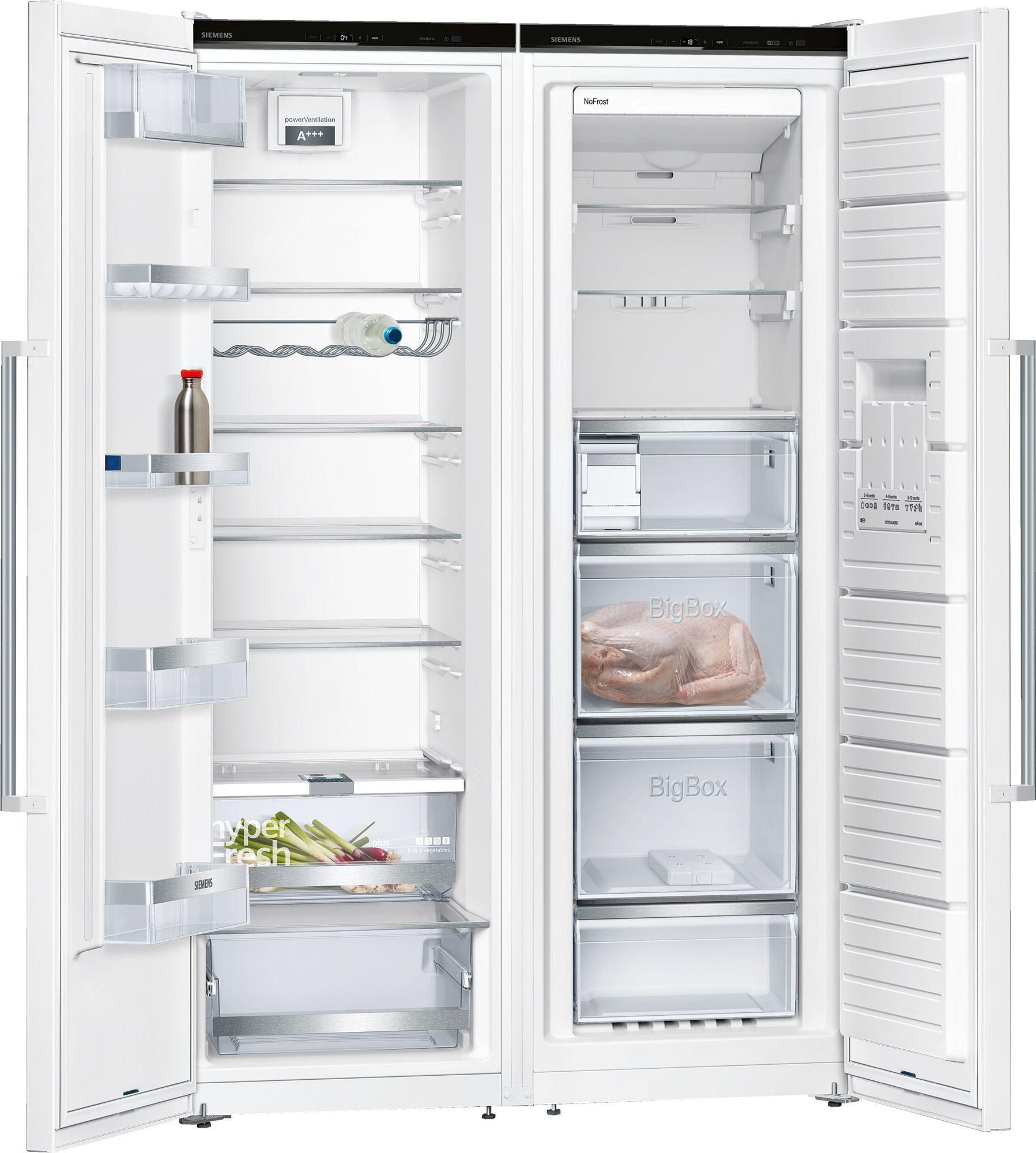 Siemens Stand Gefrierschrank noFrost iQ500 Türen Edelstahl