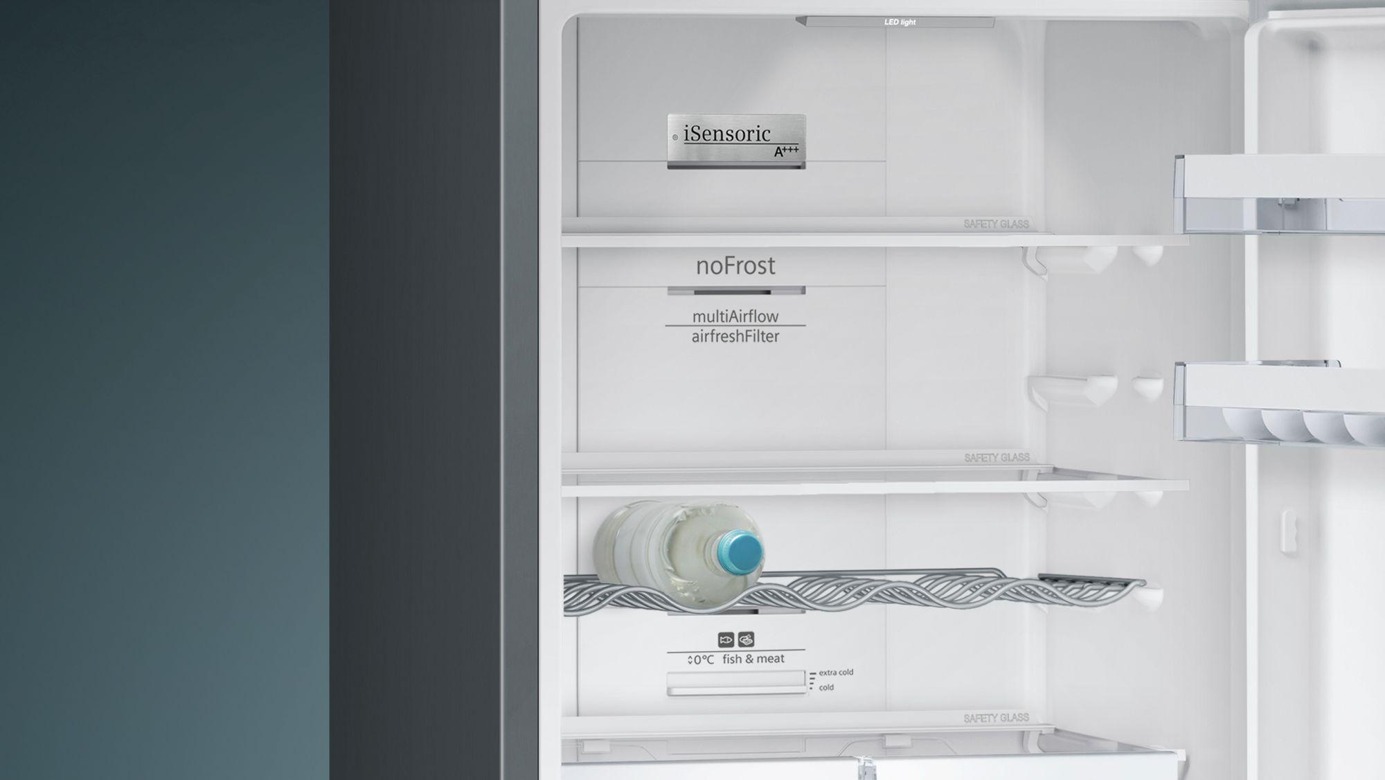 Siemens Kühlschrank Rollen : Siemens kühl gefrier kombination nofrost türen black inox